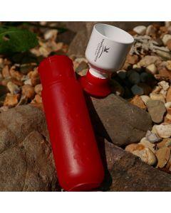 Dopper rood met logo Vogelbescherming