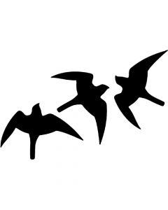 Vogelbescherming raamsticker zwart