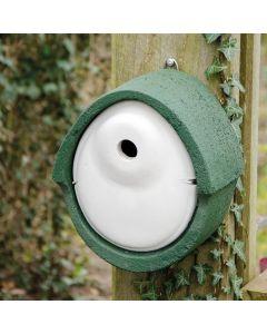 Nestkast houtbeton ovaal 28 mm groen