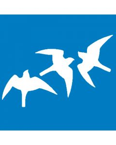Vogelbescherming raamsticker wit