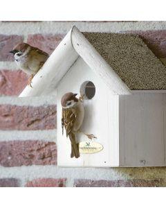 Whitewash nestkast 32 mm