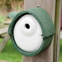 Nestkast houtbeton ovaal groen 32 mm